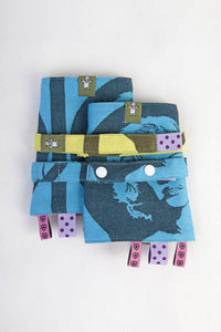 DROOL PADS & REACH STRAPS SET for Baby Carrier - MOVIE STAR - The Birth Shop