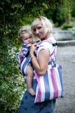 ERGONOMIC CARRIER - BROKEN-TWILL WEAVE 60% COTTON 40% BAMBOO - WRAP CONVERSION FROM MARINE - The Birth Shop