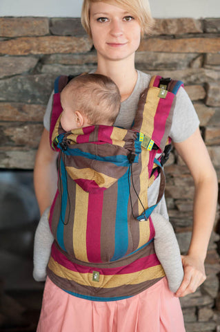 ERGONOMIC CARRIER BROKEN-TWILL WEAVE 100% COTTON - WRAP CONVERSION - FOREST MEADOW - The Birth Shop
