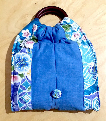 Basic Cotton - Kimono Garden - Blue *(NEW & Selling Fast!)* - The Birth Shop