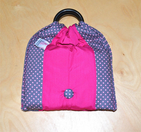Basic Cotton - Polka Grey - Magenta - The Birth Shop