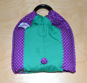 Basic Cotton - Polka Purple - French Green - The Birth Shop