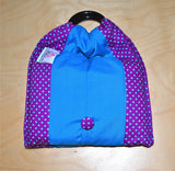Basic Cotton - Polka Purple - Turquoise Blue - The Birth Shop