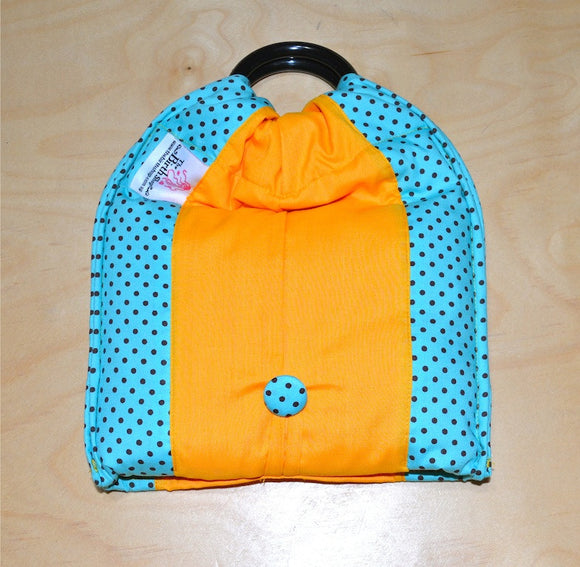 Basic Cotton - Polka Caribbean/Brown dots - Yellow - The Birth Shop