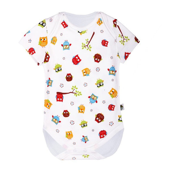 Bodysuit Short Sleeve Owl - The Birth Shop