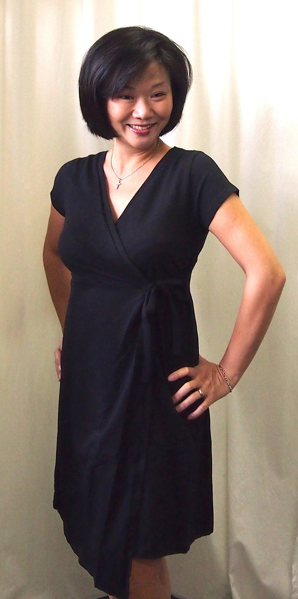 Little Black  Wrap Dress *Current Maternity Bestseller* - The Birth Shop