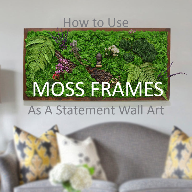 How to use Moss Frames To Make a Statement Wall Art at workplace