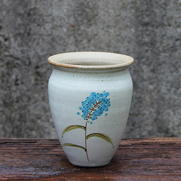 A Blue Maize Ceramic Pot