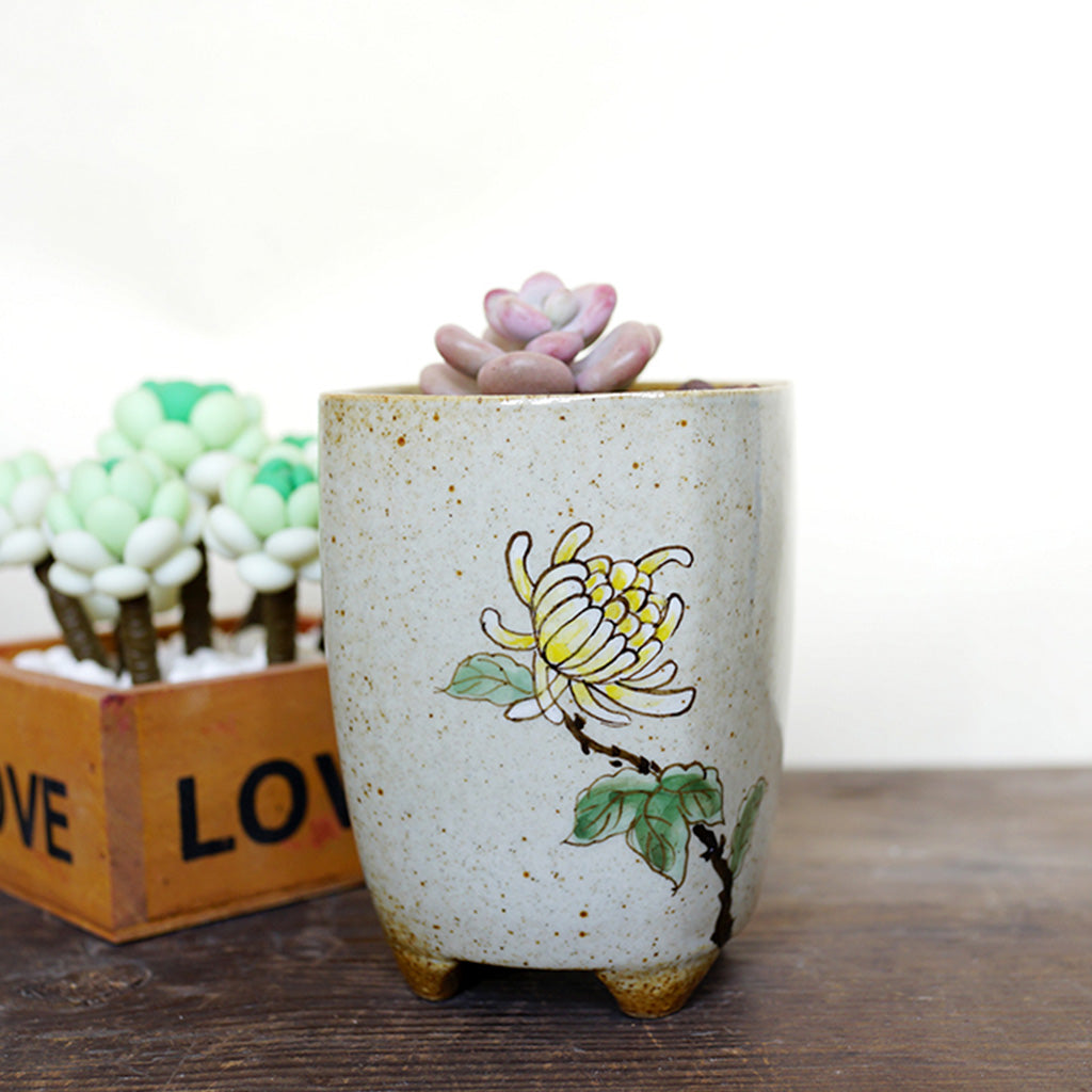 A Posy Shaft Ceramic Pot