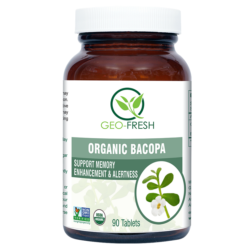 Organic Bacopa Tablet 750mg (90 Tablet)