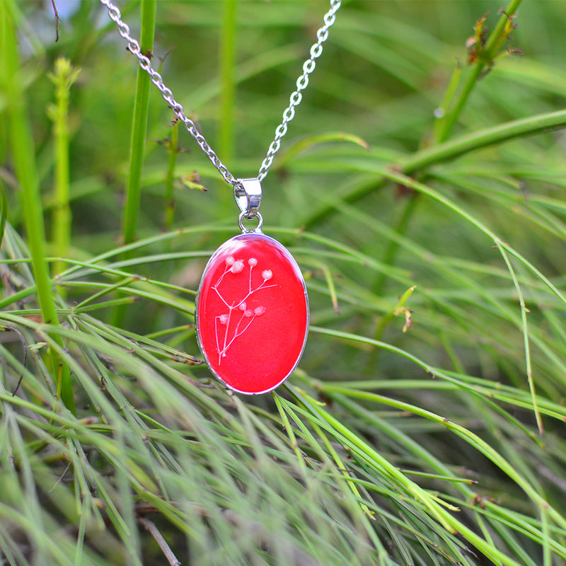 Blooms of Crimson Necklace