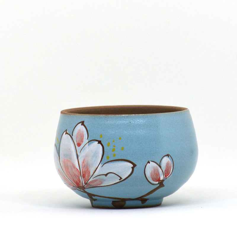 Blossoming in Blue Ceramic Pot