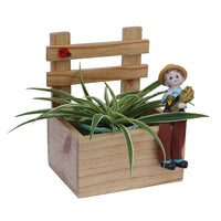 Boy Sitting on Bench Planter Garden Essentials myBageecha - myBageecha