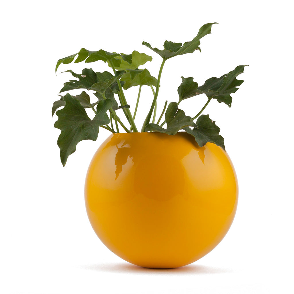 Circle of Life Yellow FRP Planter