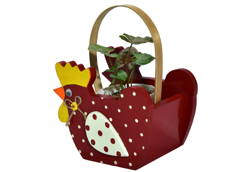 Red Broody Wooden Caddy