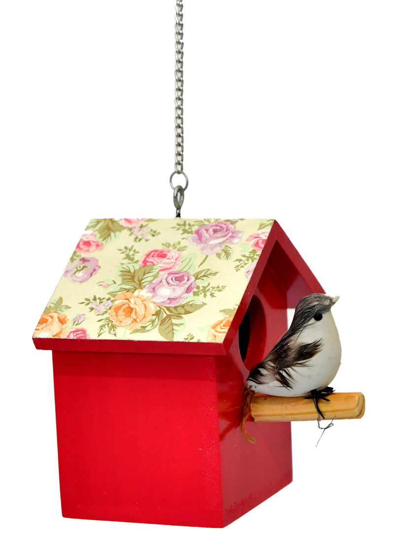 Perched Sparrow Birdhouse