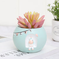 Cute Dreamy Unicorn Resin Succulent Pot