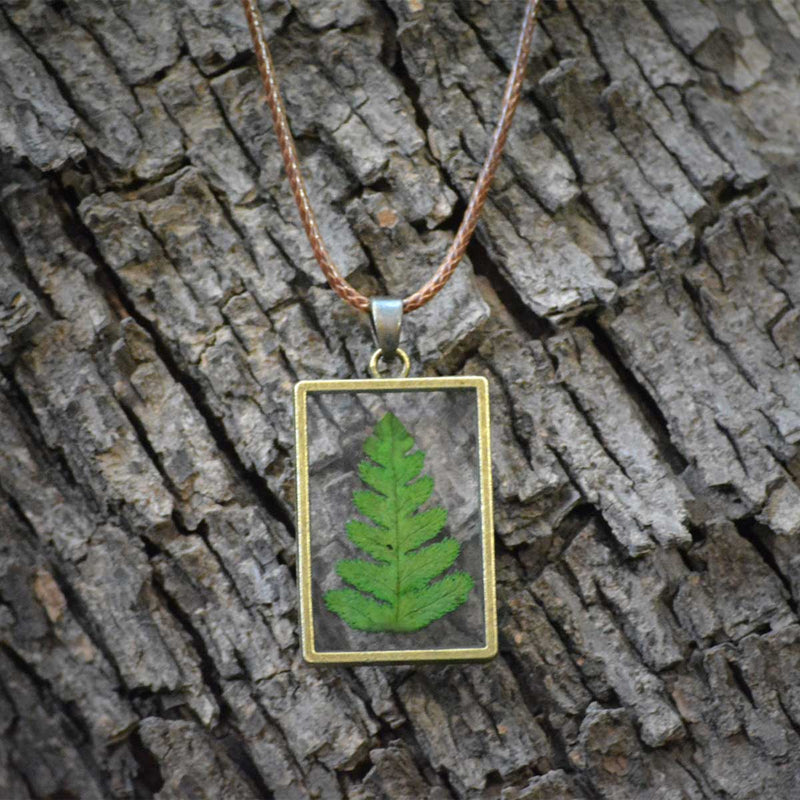 Felicitous Fern Necklace