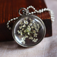 Frilly Flower Keepsakes Necklace
