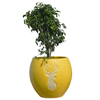 Inscribed Stag Planter