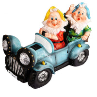 Gnomes Driving Car Solar Light