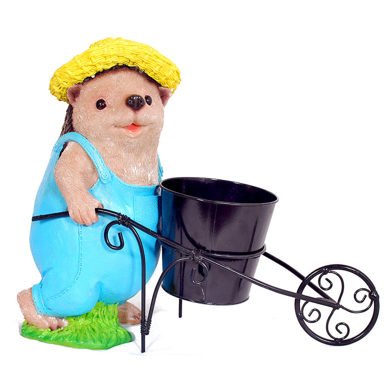 Hedgehog Pushing Cart Planter Garden Essentials myBageecha - myBageecha