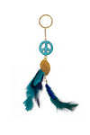 Dream Catcher  Keychain  Peace Blue Green