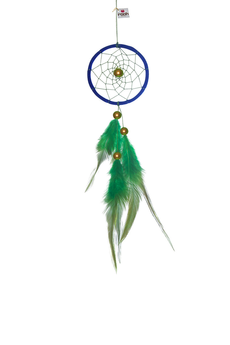 Dream Catcher  Blue and Green Weave