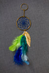 Dream Catcher  Keychain  Green Blue