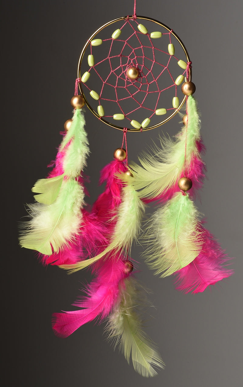 Dream Catcher  Freesia Pink Car Hanging