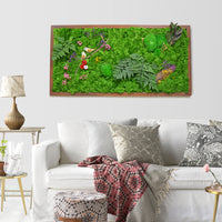 Nature's Trail Moss Frame with Dark Wood