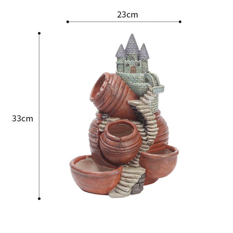 Rapunzel's Castle Resin Succulent Pot