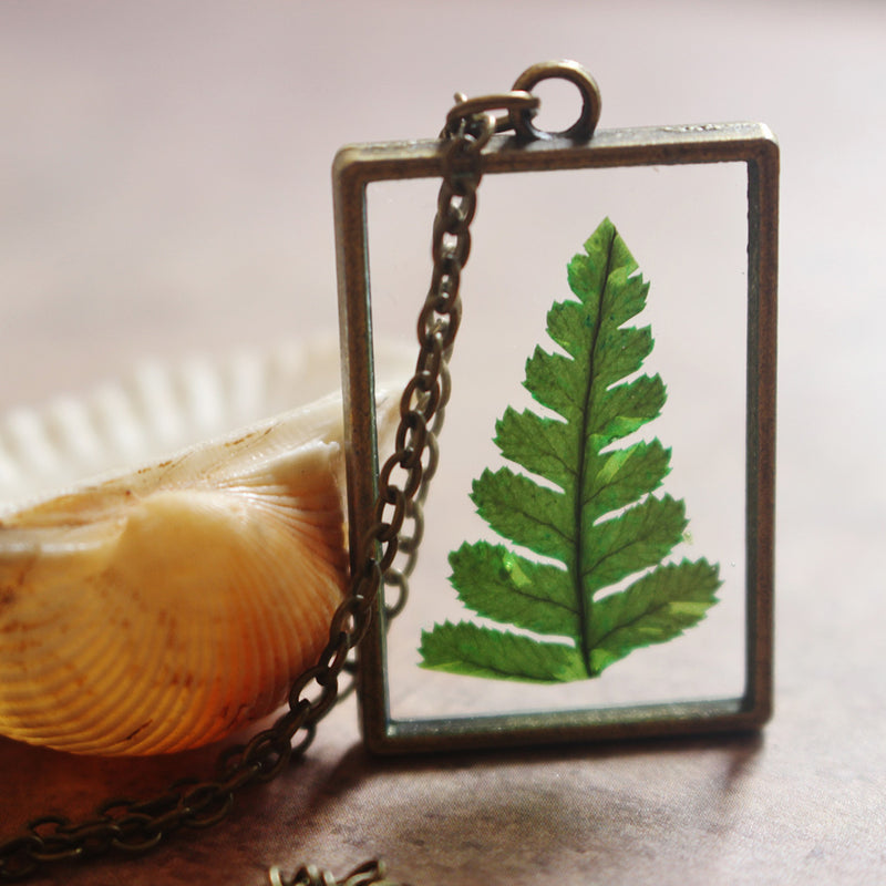 Secrets of a Forest- Fern Necklace