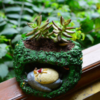 Sleeping Totoro and Mei Resin Succulent Pot
