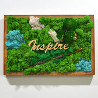 Spirited Tale Moss Frame with Dark Wood