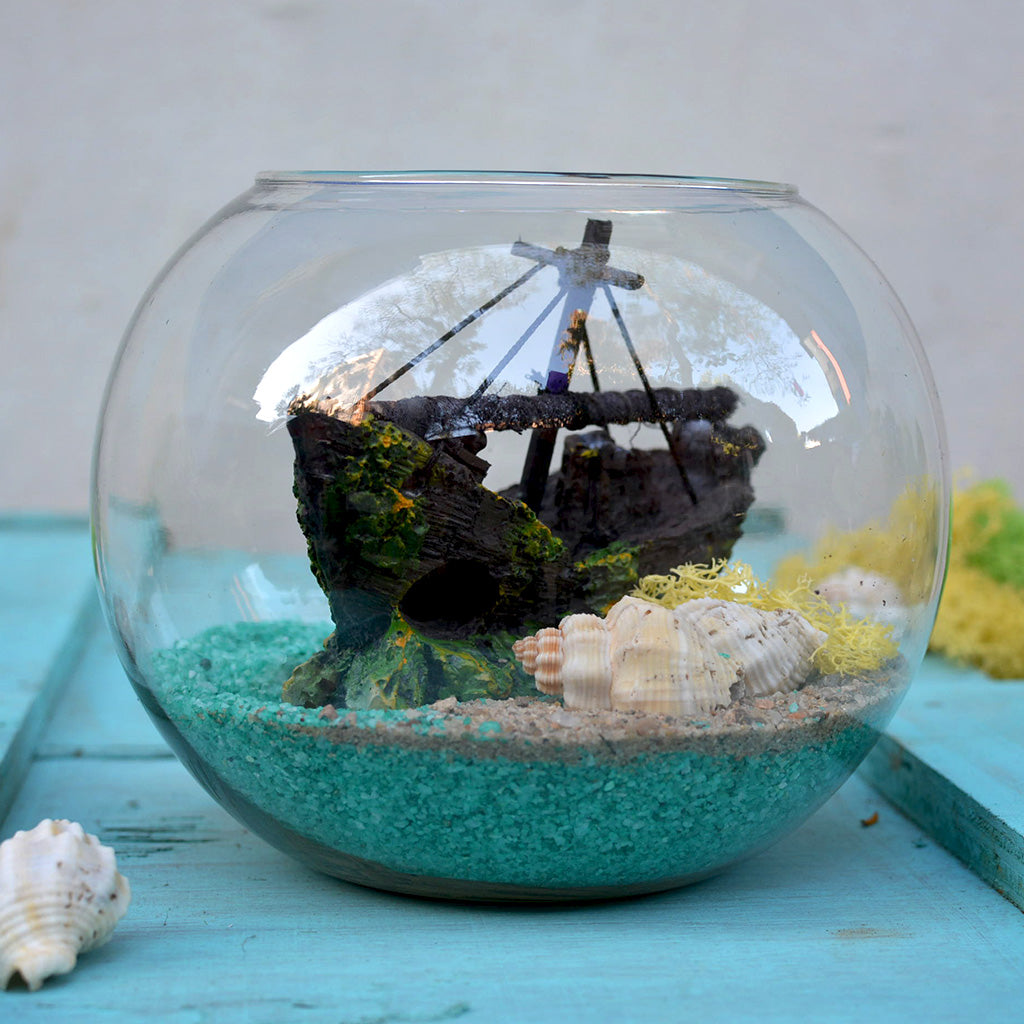 The Swamped Shipwreck Fairy Garden Kit