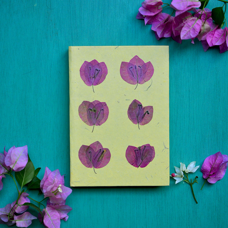 Tessellated Bougainvillea Pressed Flower Diary