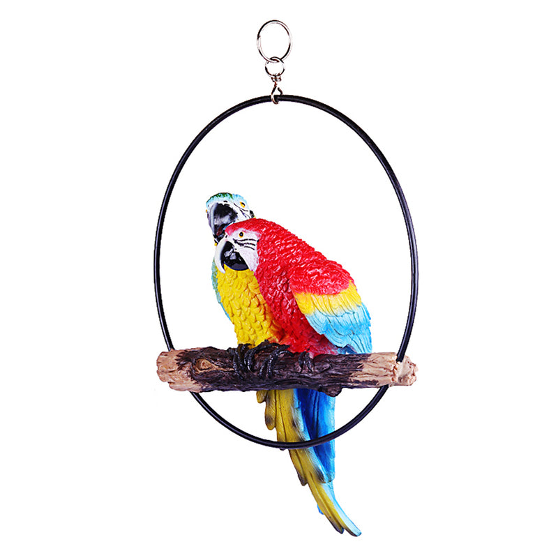 Two Parrot in Ring for hanging
