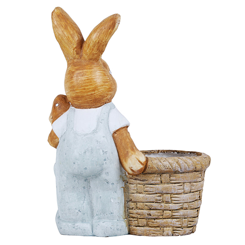 Bunny Rabbit with Mushroom Planter