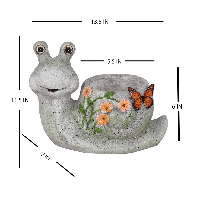 Snail with Butterfly Planter