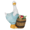 Blue Duck with Barrel Planter