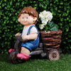 Boy on CYCLE planter