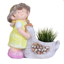Girl with Duck planter