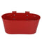 Self embossed Railing planter in Red