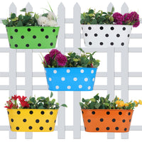 Polka Dot Railing planters(Set of 5)