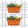 (Set of 2) Polka Dot Railing planters