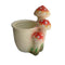 Planter with 3 Red Mushroom Planter