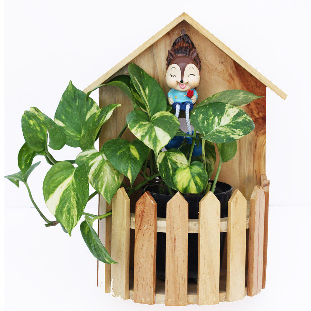 Hut with Fence Planter Garden Essentials myBageecha - myBageecha