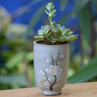 A Tale of Buds Ceramic Pot