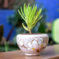 A Cold Winter Ceramic Pot